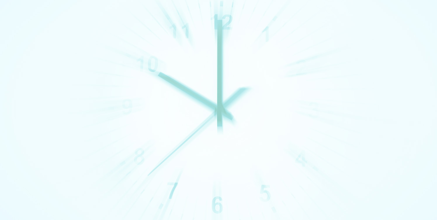 Faded green clock background